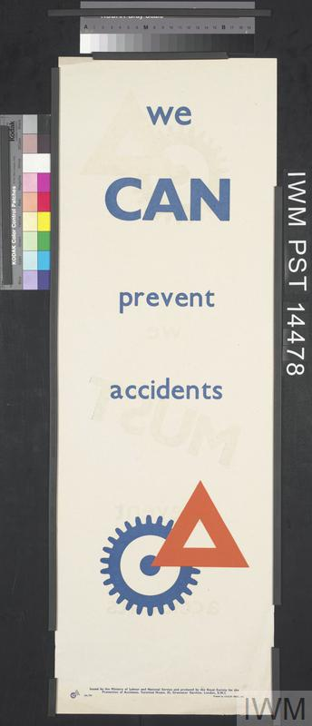 We Can Prevent Accidents (recto) We Must Prevent Accidents (verso)
