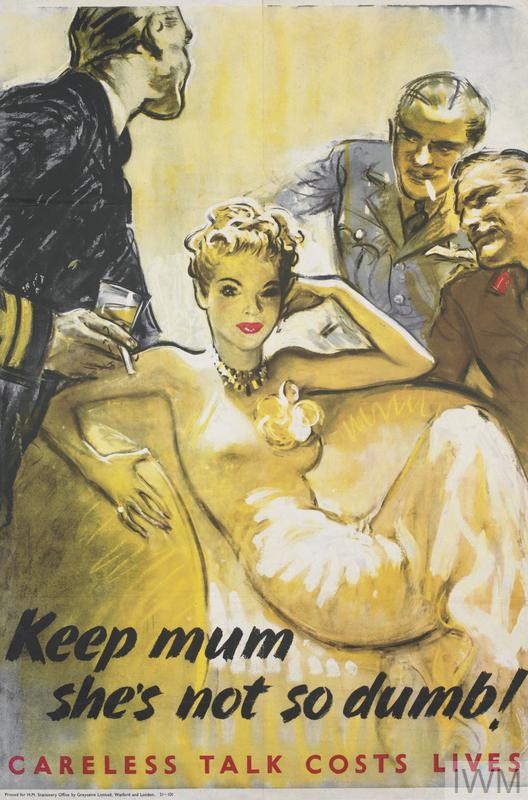She/'s Not So Dumb Keep Mum NEW Vintage Photograph POSTER