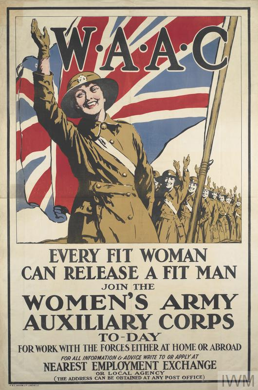 Recruiting poster for the Women's Army Auxilliary Forces