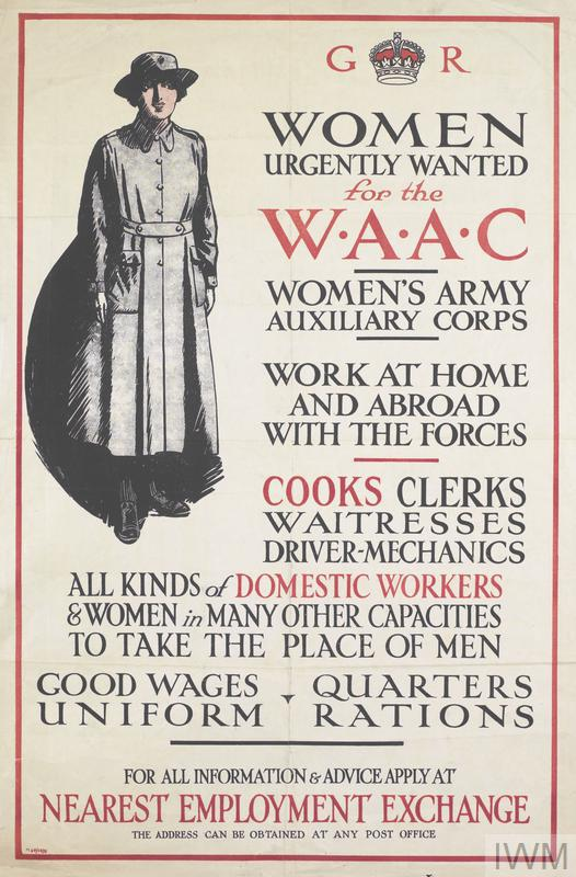 Women Urgently Wanted for the WAAC poster