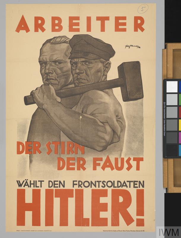 Arbeiter Der Stirn Der Faust W 196 Hlt Den Frontsoldaten