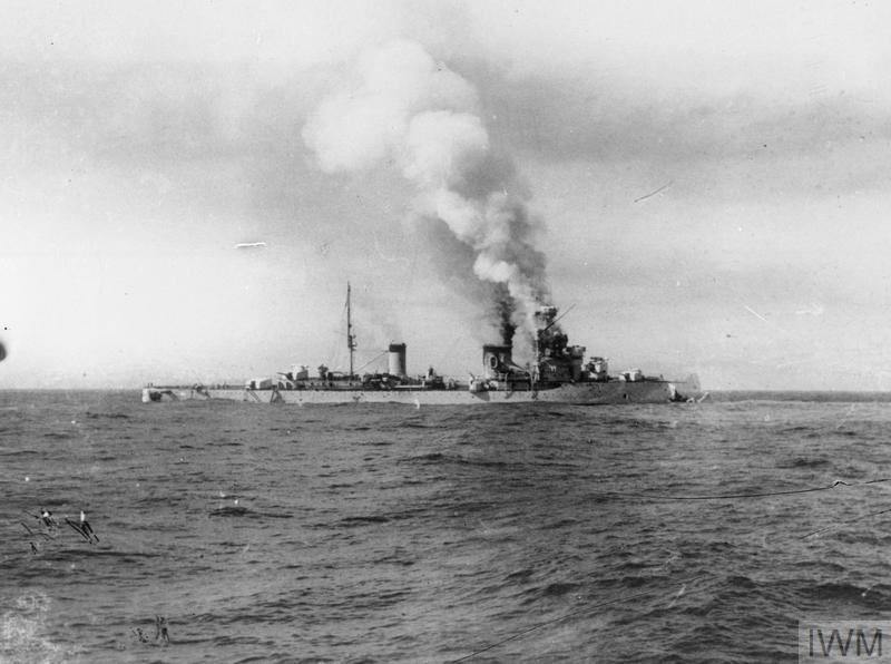 THE SINKING OF ITALIAN CRUISER BARTOLOMEO COLLEONI BY HMAS SYDNEY, JULY 1940