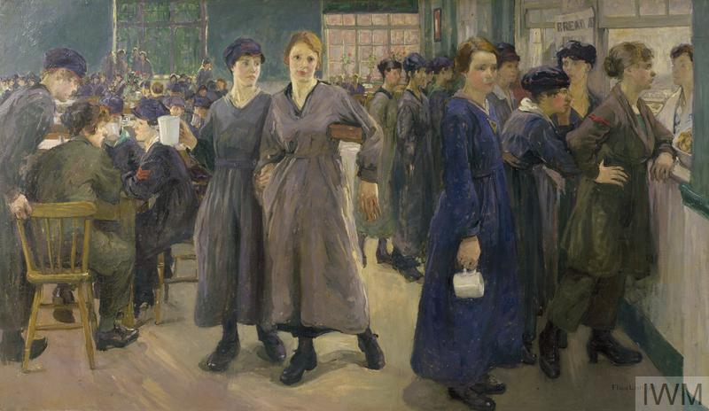 Women's Canteen at Phoenix Works, Bradford 1918, by Flora Lion