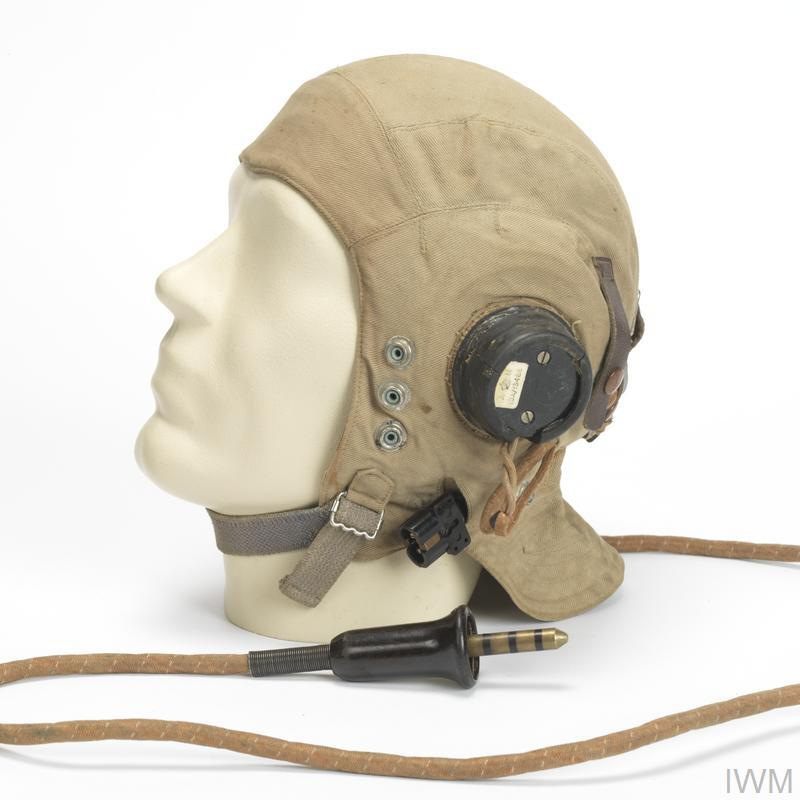 Flying Helmet, Type C (wired), RAF | Imperial War Museums