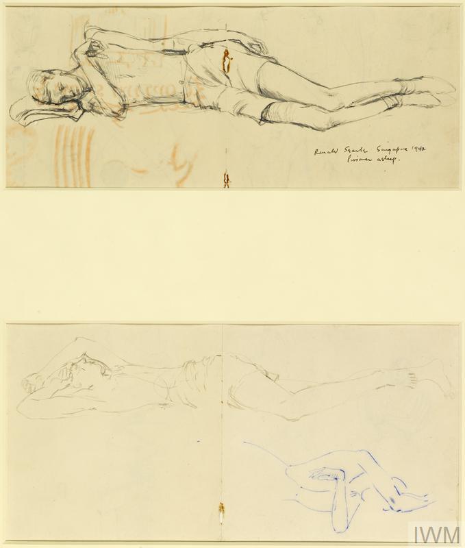 Prisoner Asleep (Matthew Kerr), India Lines, Singapore, November 1942