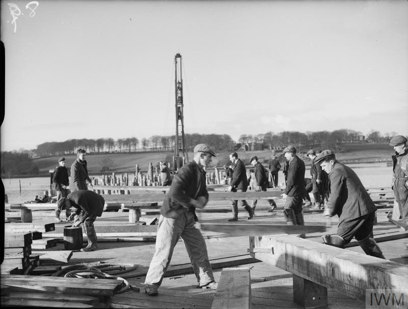 THE AMERICAN BASE UNDER CONSTRUCTION AT LISAHALLY,  NEAR LONDONDERRY,  NORTHERN IRELAND, 28 JANUARY 1942