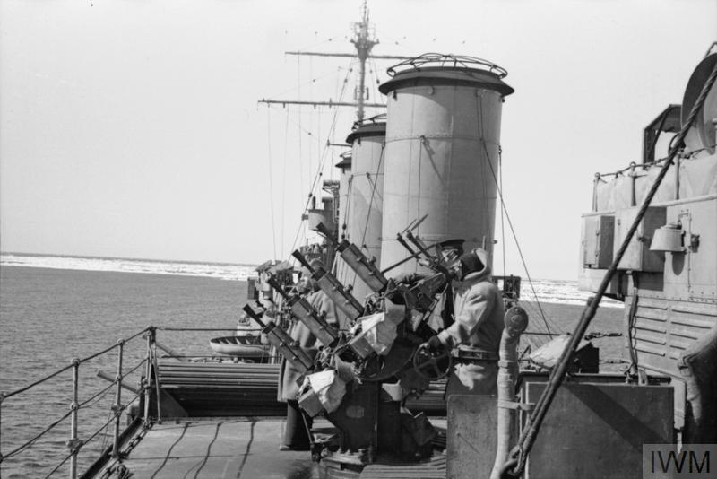 HMS SUFFOLK ON PATROL IN THE DENMARK STRAITS, 1941   Imperial War Museums