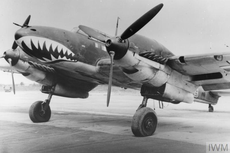 Messerschmitt Bf 110C of 5./ZG 76 wearing the 'Haifischmaul' (shark's mouth) marking of II Gruppe.