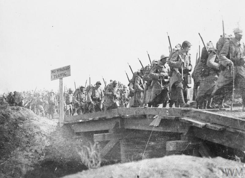 Troops of the French 201st Infantry Regiment coming back from the front line. Near Bronfay Farm, Bray-sur-Somme, 23 September 1916.