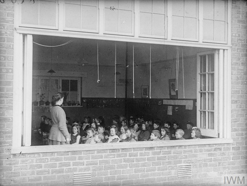 A fresh air school for workers children in the munitions township of Gretna Green.