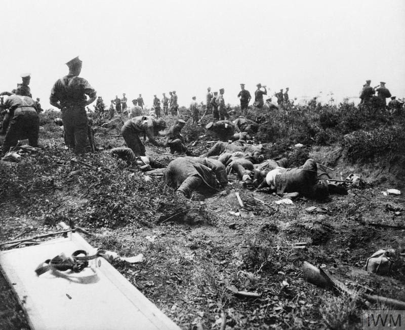 Australian troops burying Turkish dead during the truce at Anzac Cove on 24 May 1915. With over 3000 Turks having been killed attacking ANZAC positions on 19 May the truce allowed for the burial of the decomposing corpses.