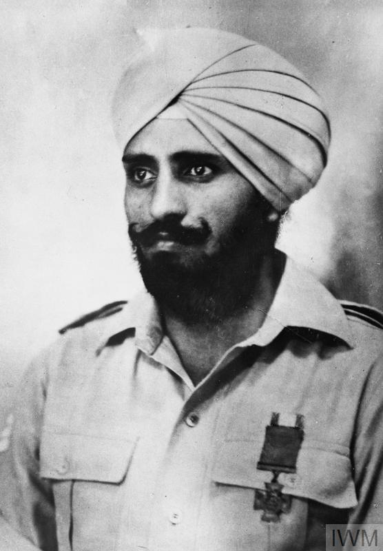 Portrait of Parkash Singh, awarded the Victoria Cross: Burma, January 1943.