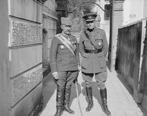 General Sir George Milne with General Mishitch, Salonika, January, 1917.