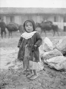 Child refugee, Salonika, January, 1917.