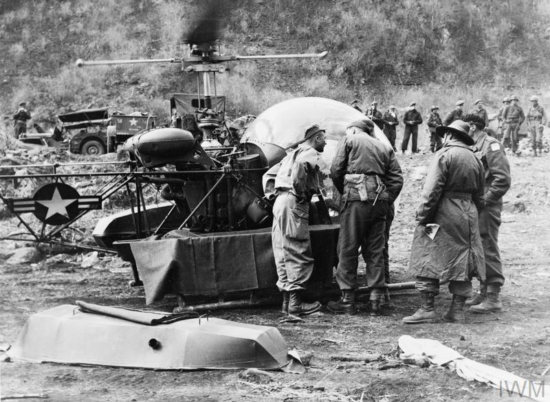 Bell 47G helicopter in the Korean War