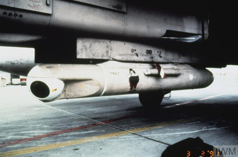 Thermal Imaging Airborne Laser Designation pod on a Royal Air Force Tornado GR.1