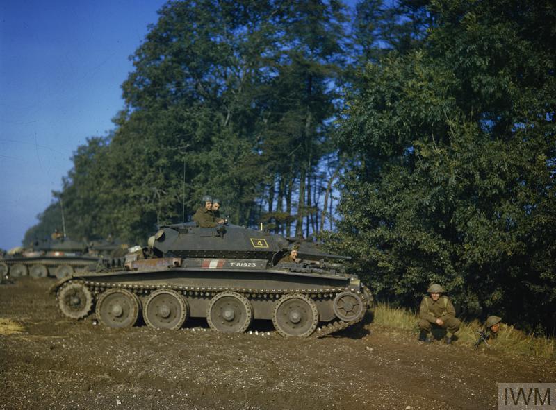 A Covenanter Cruiser tank during exercises.