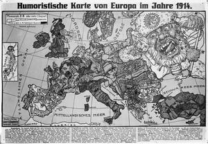 Karte Von Europa 1914.Humoristische Karte Von Europa Im Jahre 1914 Imperial War
