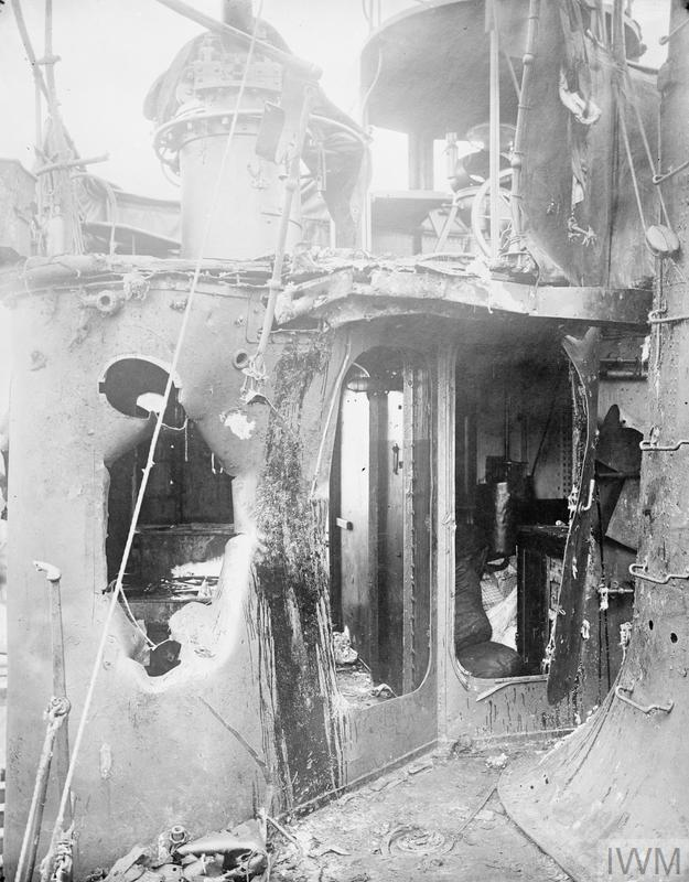Battle of Heligoland Bight, 28th August 1914. Damage to Destroyer D. 8.