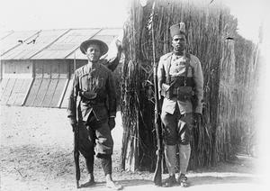 Two French colonial soldiers, an Annamite (Vietnamese) and a Malagasy tirailleurs, at Zeitenlik in Salonika, July 1917. THE FRENCH ARMY IN THE MACEDONIAN CAMPAIGN, 1915-1918
