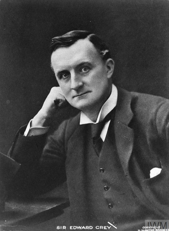 British Foreign Secretary Sir Edward Grey.