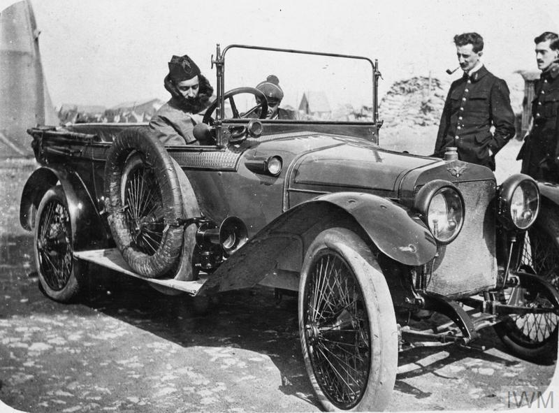 Georges Guynemer in his car.