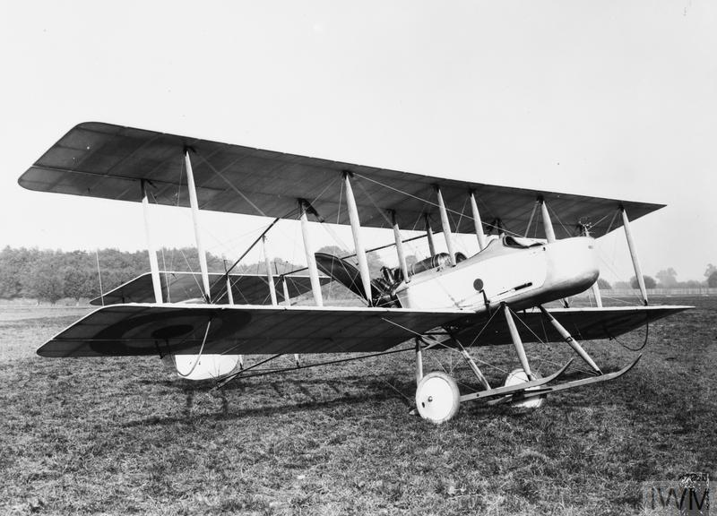 "Photograph of a Vickers FB5 ""Gunbus"" biplane"