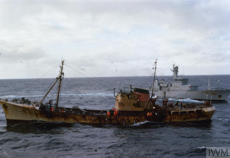 THE COD WAR:  THE ROYAL NAVY ON FISHERY PROTECTION DUTIES OFF THE COAST OF ICELAND 1972 - 1976