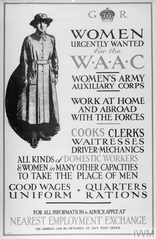 Ministry of Labour poster for the Women's Army Auxiliary Corps © IWM (Q 68242)