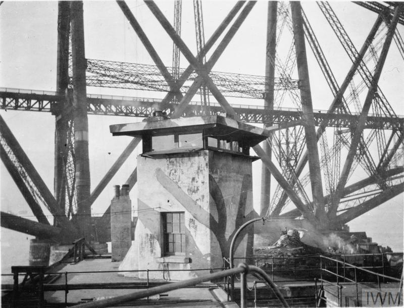 Forth Bridge defences at Inchgarvie during the First World War.