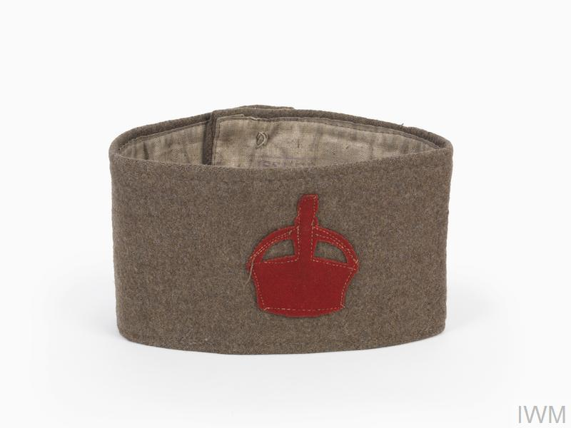 A khaki cloth armband representing the Derby scheme of 1915