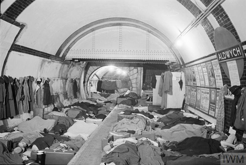 THE LONDON UNDERGROUND AS AIR RAID SHELTER, LONDON, ENGLAND