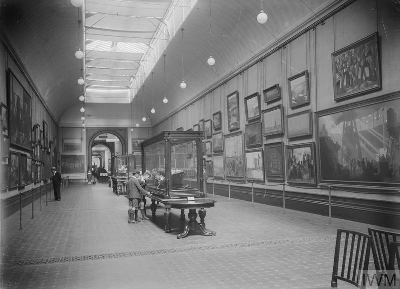 View of the Imperial War Museum's Art Gallery at South Kensington, London, August 1929.