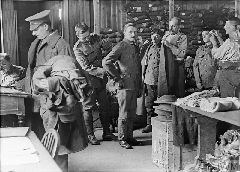 Recruits having their service uniforms fitted