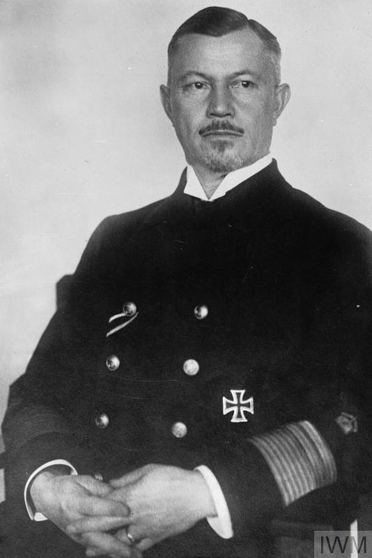 Portrait of Vice Admiral Reinhard Scheer, the Commander-in-Chief of the German High Seas Fleet.