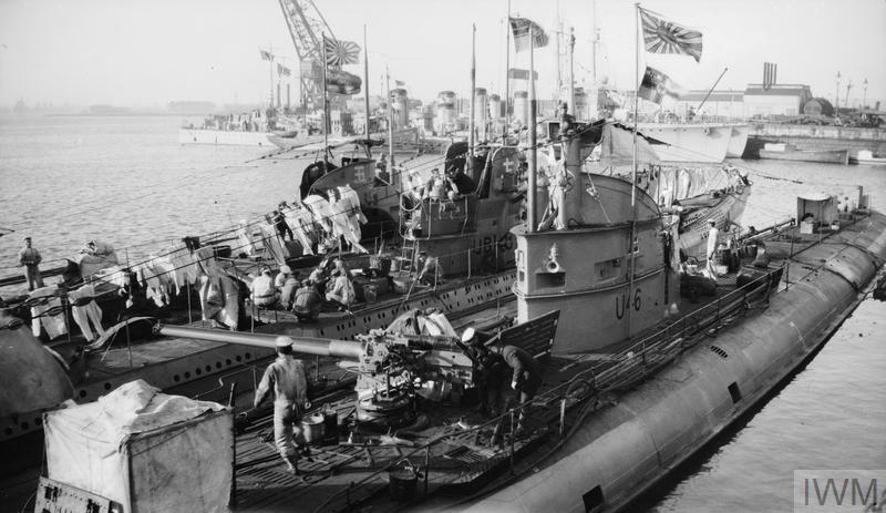 Surrender of U-Boats at Harwich