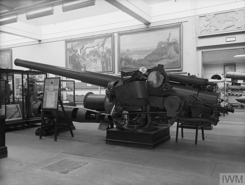 The 5.5 inch gun from HMS Chester on which Jack Cornwell served and won his Victoria Cross.