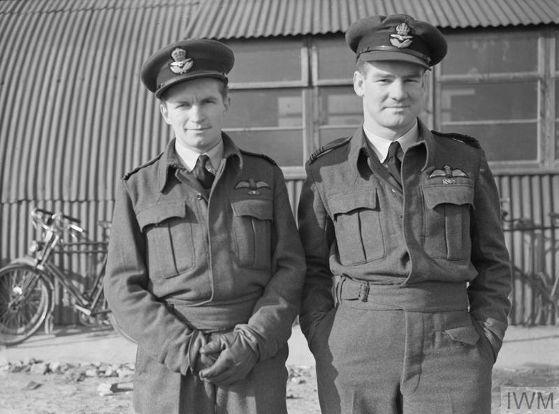 British Personalities: Wing Commander Alan Deere with Squadron Leader Denis Crowley-Milling DSO DFC.
