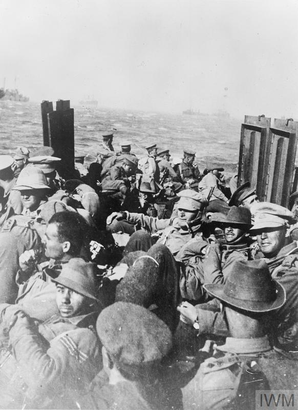 Leave: New Zealanders return to Gallipoli by picket boat after a rest in Lemnos. Returning from leave was always the occasion for depression.