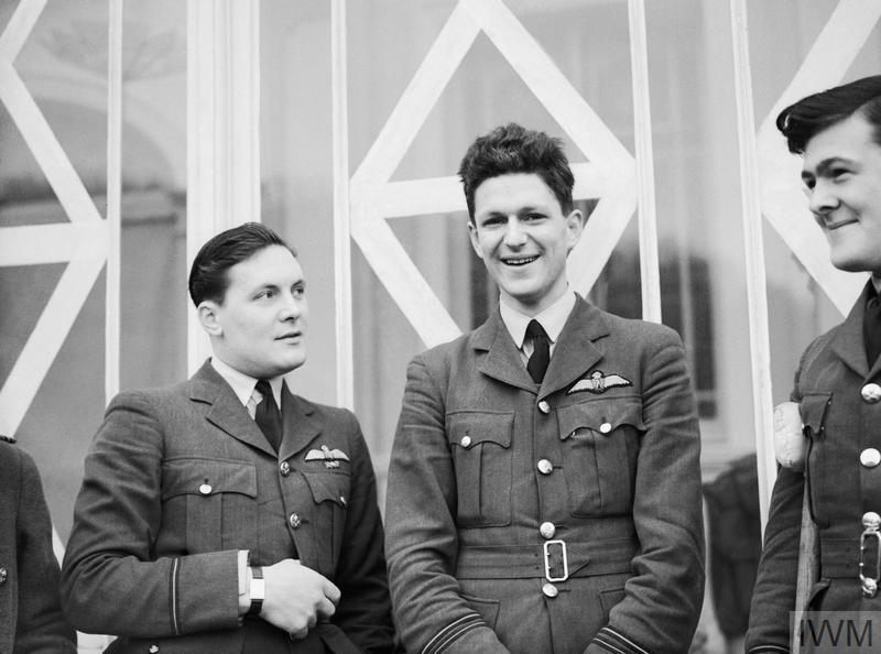 Flight Lieutenant James Nicolson, (centre) Fighter Command's only recipient of the Victoria Cross