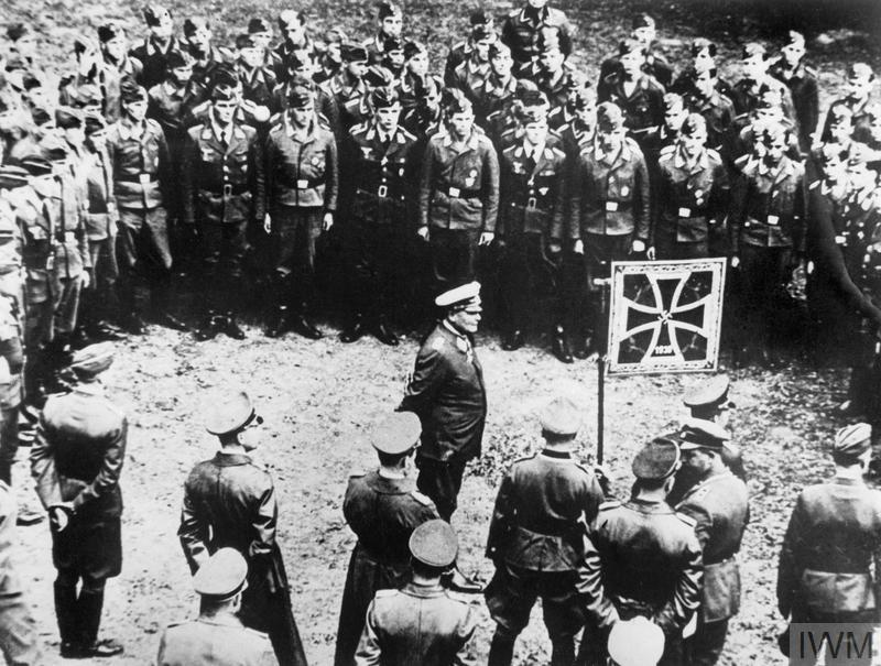 Hermann Goering addressing a group of German pilots before their sortie over England, September 1940.