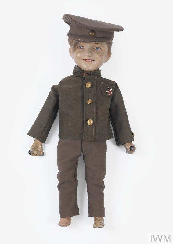 Doll modelled on a First World War soldier designed to help British children build up their physical strength through play.