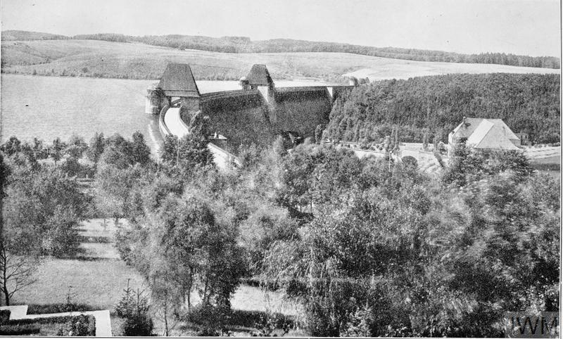The Targets: The Moehne Dam before the war (from an easterly direction).