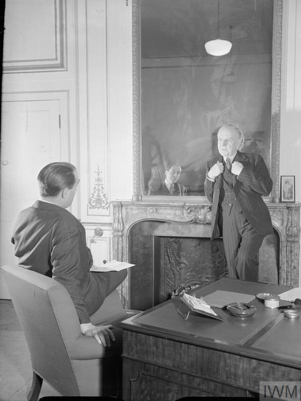 LORD WOOLTON IS INTERVIEWED IN LONDON, ENGLAND, UK, 1944
