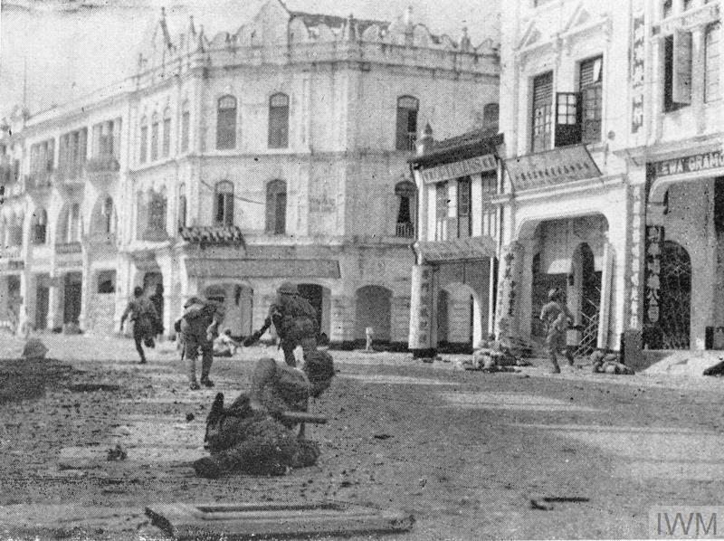 Japanese Troops Clear Pockets Of Resistance In The Streets Malay City Kuala Lumpur