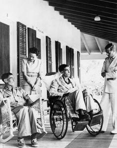 Duke and Duchess of Windsor with Widdicombe and Tapscott at a hospital in Nassau.