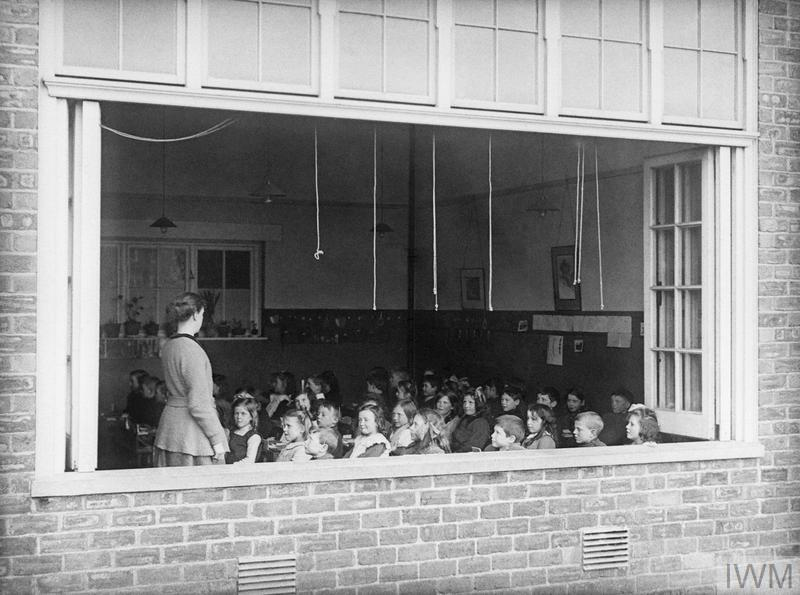A fresh air school for workers children in the munitions township of Gretna Green