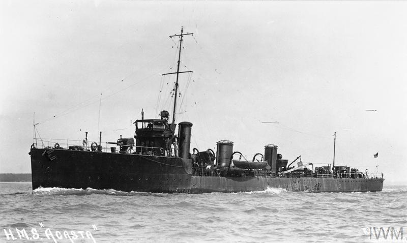 HMS Acasta, Acasta-class destroyer.