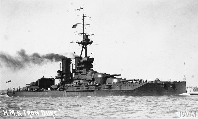 Battleship HMS Iron Duke.