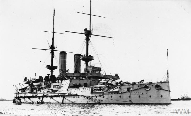 Predreadnought battleship HMS Royal Sovereign.